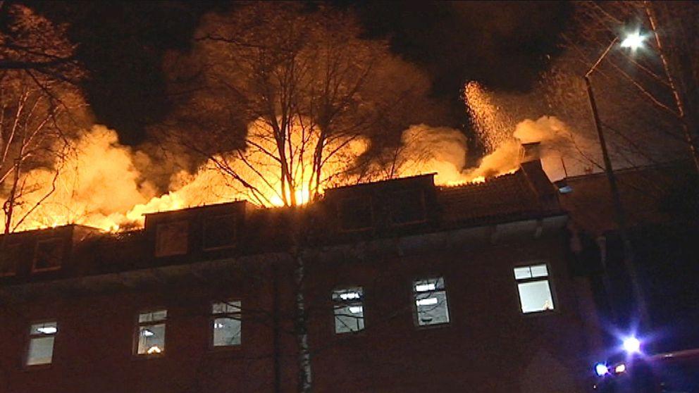 Brand, Storbrand, Umeå, Vattenfallbrand