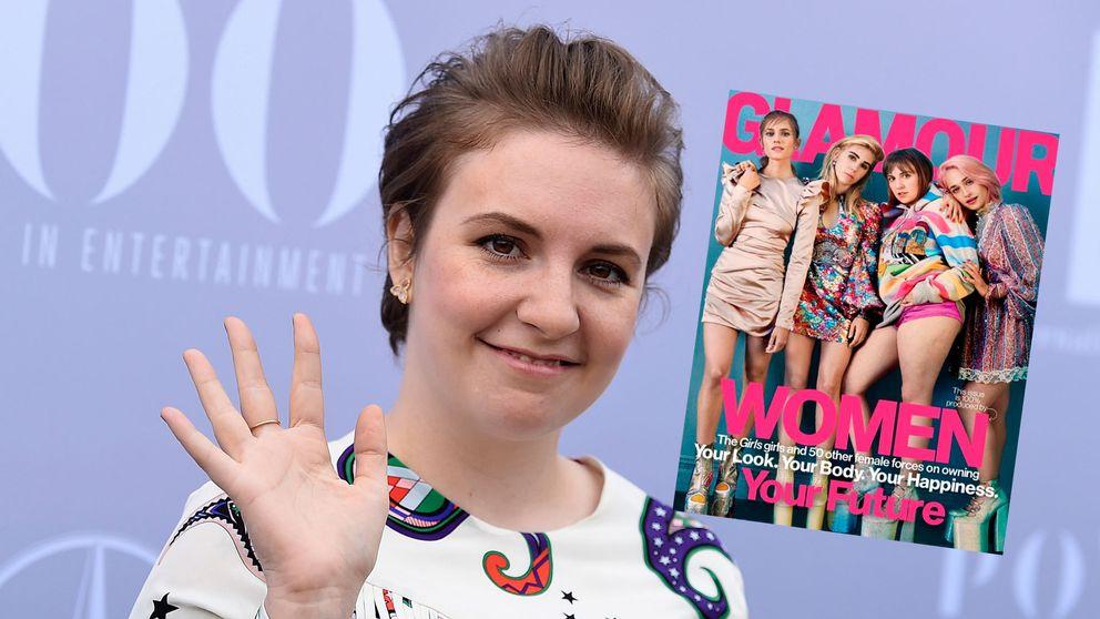Lena Dunham och omslag från Glamour.