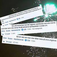 Kommentarerna har strömmat in till bland annat SVT:s Facebook-sida efter rapporteringen om olika incidenter kring fyrverkerier vid nyår.