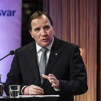Statsminister Stefan löfven talar på Folk och försvars rikskonferens i Sälen