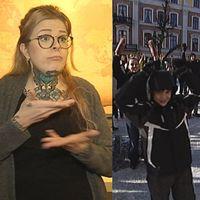 Johanna Mauritzson, människor på Stortorget 2010