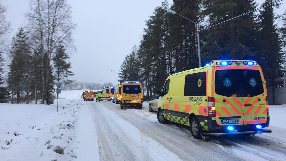 Bussolycka, ambulanser