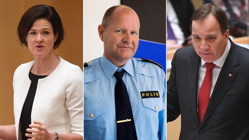 Förtroendet för rikspolischef Dan Eliasson var en central fråga i debatten