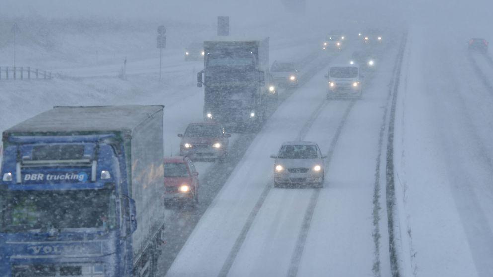 Snöoväder vid Gårdstånga