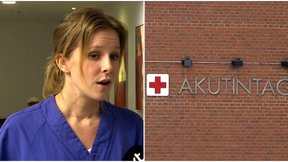 """""""Ohållbar situation"""" på akuten på Sahlgrenska, menar skyddsombudet Caroline Laursen."""
