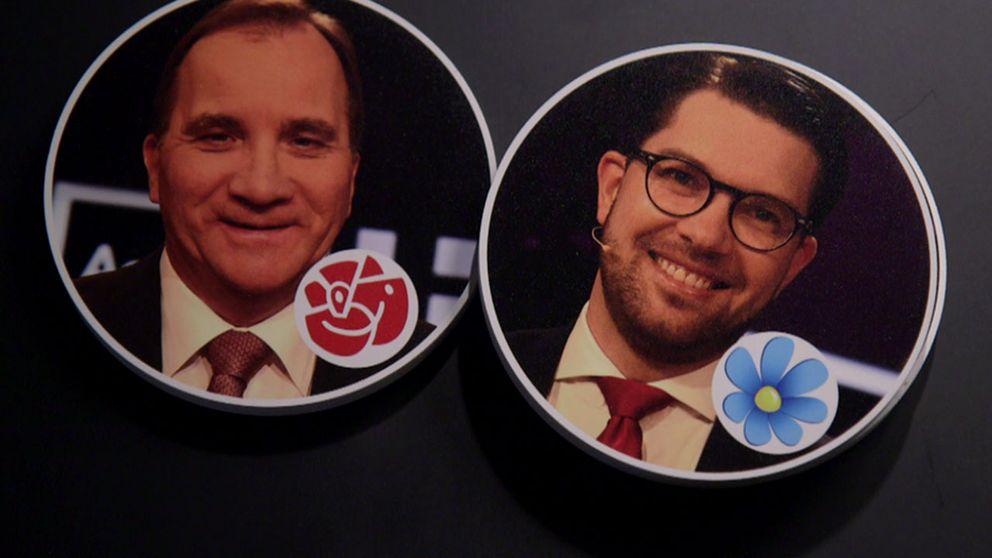 Stafan Löfven och Jimmie Åkesson, montage.