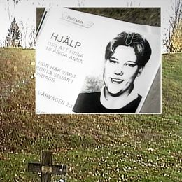Anna Jensens pappa, Johny, besöker sin dotters grav.