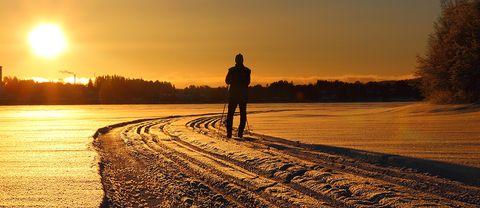 En tur på isen i Hammerdal, Jämtland.