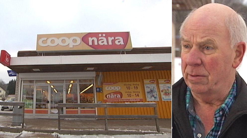 Montage: Coop Nära i Nykroppa och Göte Karlsson