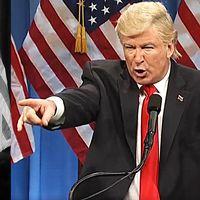 Alec Baldwins version av Donald Trump tilltalar inte Donald Trump.