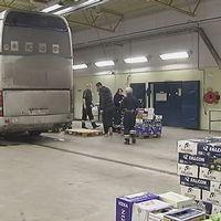 En buss med beslagtagen sprit