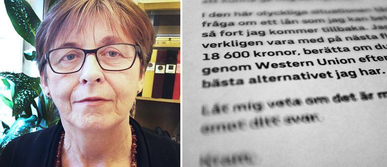 Susanne Birgegård Pelling och brevet