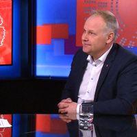 Mats Knutson och Vänsterledaren Jonas Sjöstedt (V)
