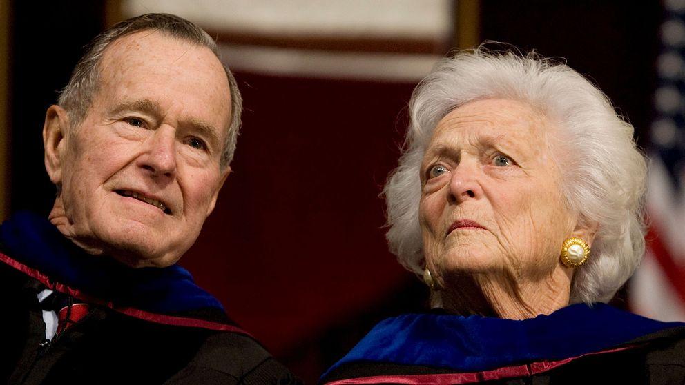 George HW Bush med frun Barbara