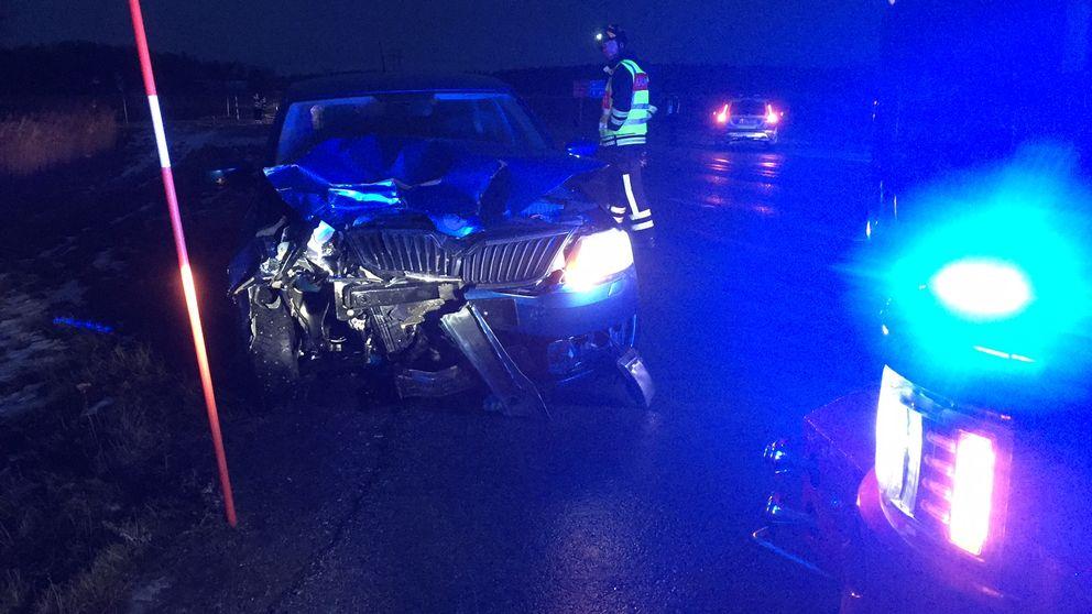En av de skadade bilarna.