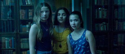 Tre tjejer från filmen Rum 213.