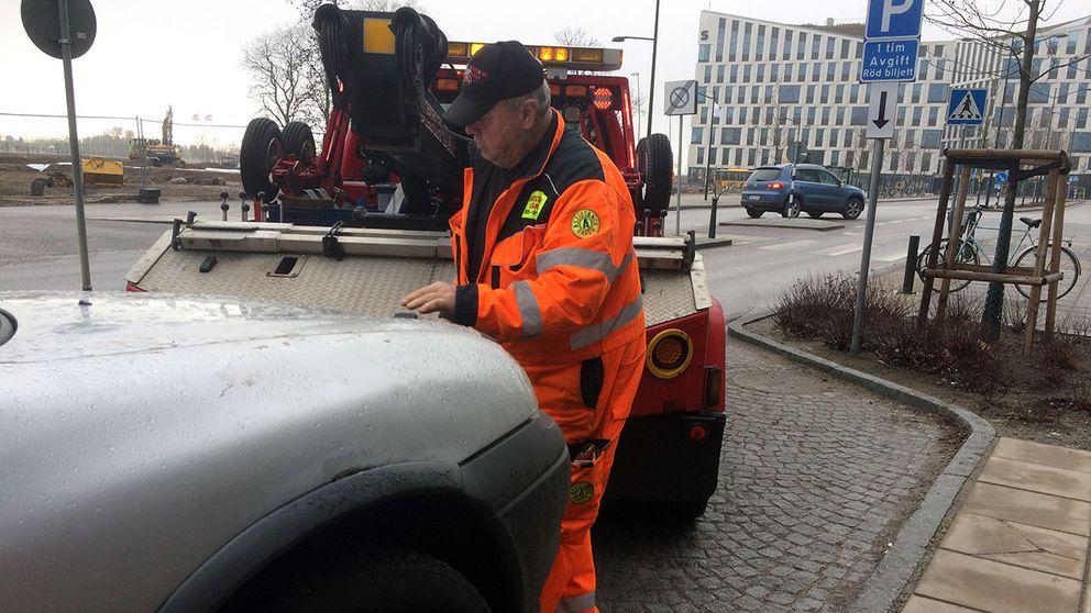 bärgning av bil i Burlöv p-böter