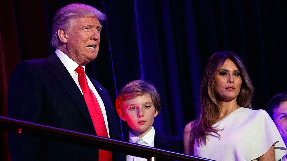 Donald Trump, sonen Barron och Melania.