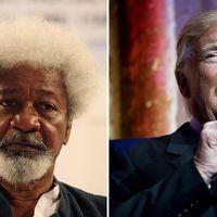 Den nigerianske nobelpristagaren Wole Soyinka har förstört sitt Green Card i protest mot att Donald Trump i morgon blir USA:s näste president.