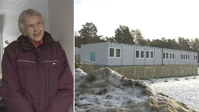 Äldre tvingas bo i containrar