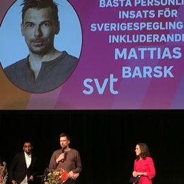 Spektrumpris till Mattias Barsk