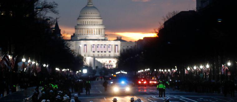 Förberedelser i Washington inför Trumps installation 20 januari 2017