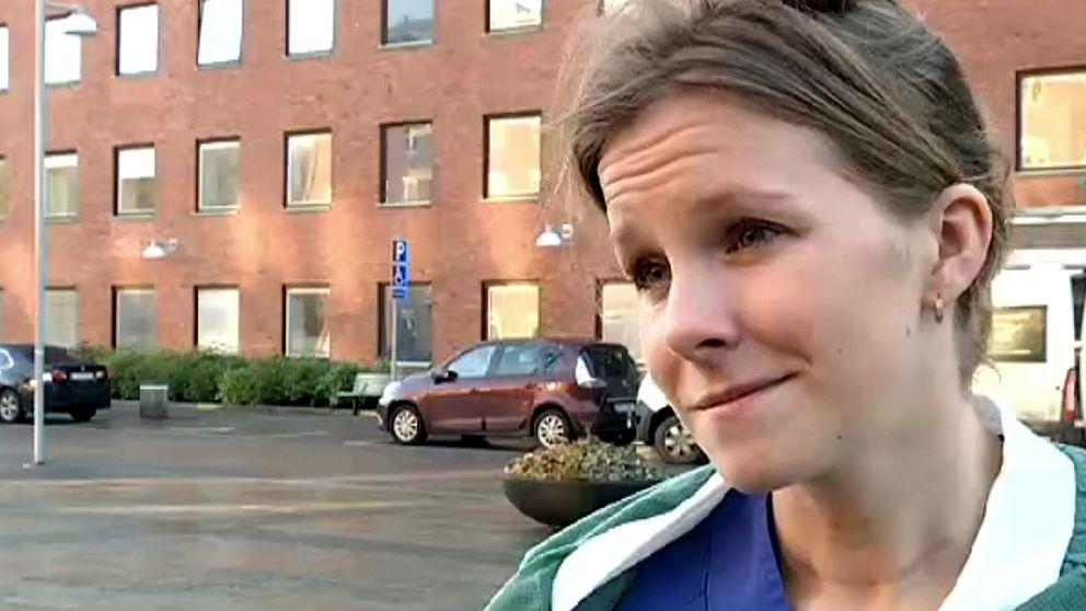 Caroline Laursen, sjuksköterska på Sahlgrenska.