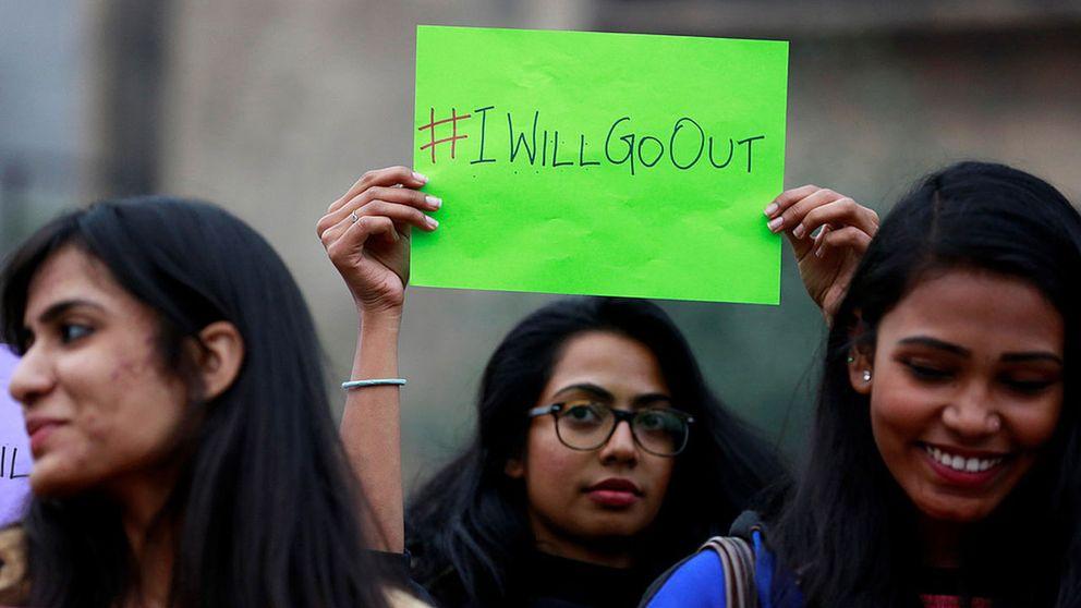 Demonstrationer i Dehli, Indien.