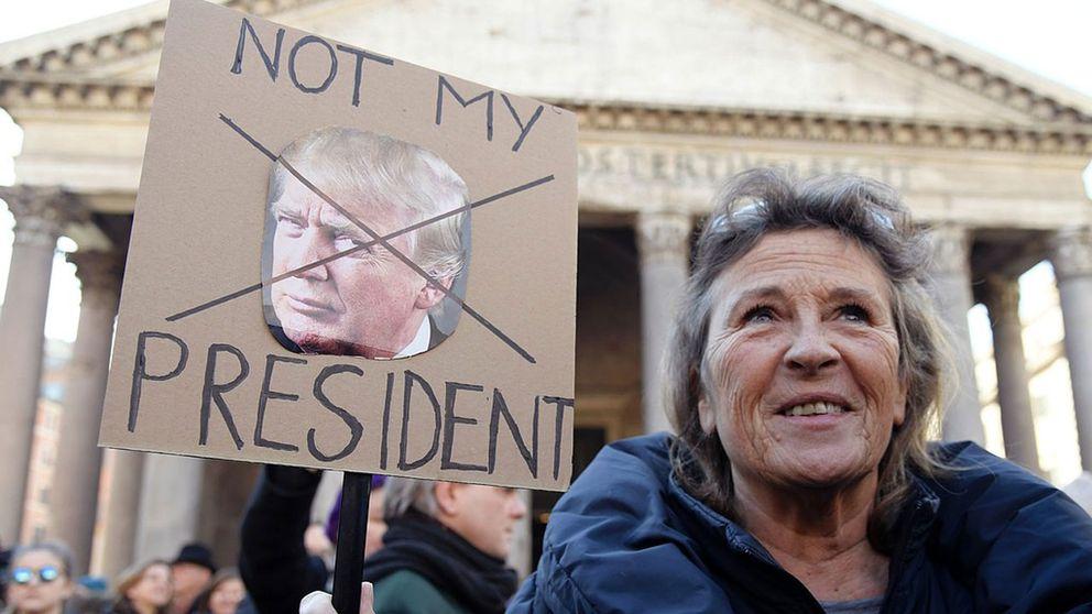 Demonstrationer i Rom, Italen.