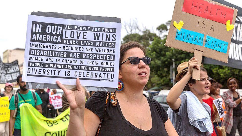 Demonstrationer i Durban. Sydafrika.