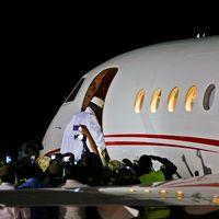 Gamias ex-president Yahya Jammeh lämnade sent på lördagskvällen landet med det flygplan som nu tagit honom till Ekvatorialguinea, där han ska leva i exil.