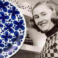 Kostnären Marianne Westman från Falun designade den klassiska kollektionen Mon Amie åt Rörstrand.