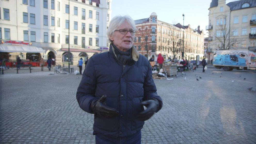 Författaren och journalisten Lars Åberg på Möllan i Malmö.