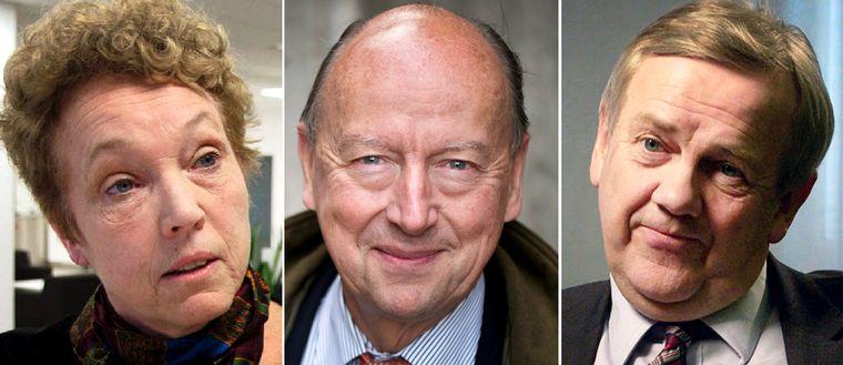 Skatteverkets förre överdirektör Helena Dyrssen, den före detta toppdiplomaten Frank Belfrage och Skatteverkets generaldirektör Ingemar Hansson är före detta regeringskollegor.