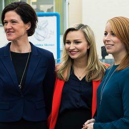 Alliansen på besök i Engelska skolan i Uppsala 17 januari 2017.