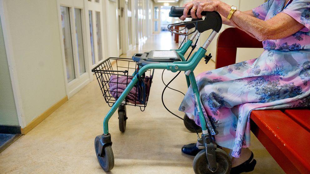 Äldre med rullator