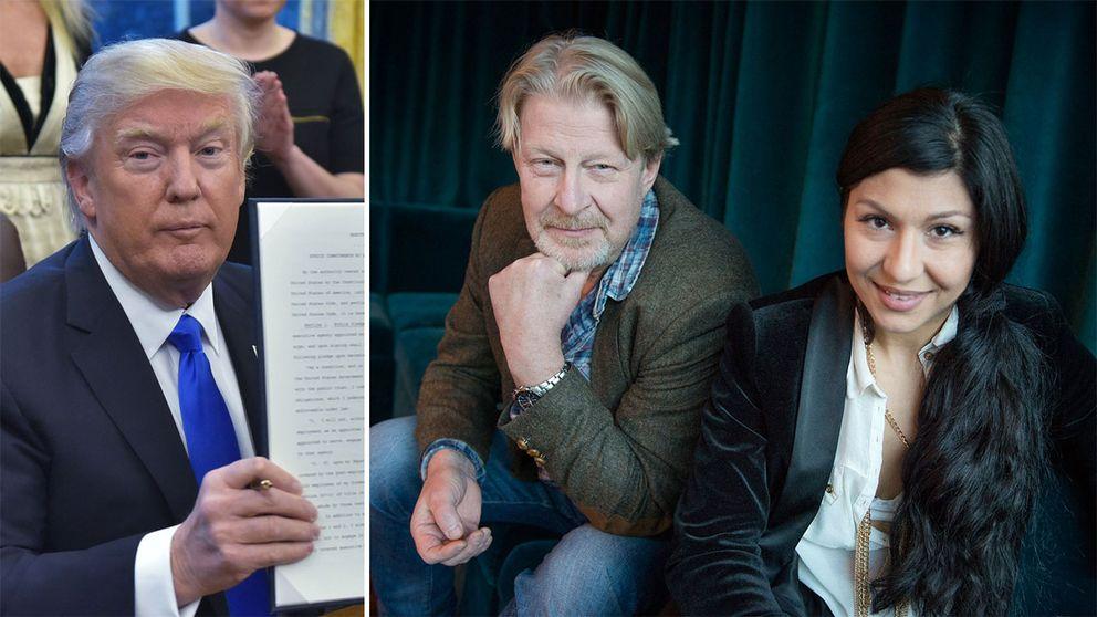 Donald Trump och Rolf Lassgård, Bahar Pars.