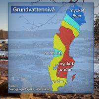 Grundvattennivåer i stora magasin, 2017-01-25