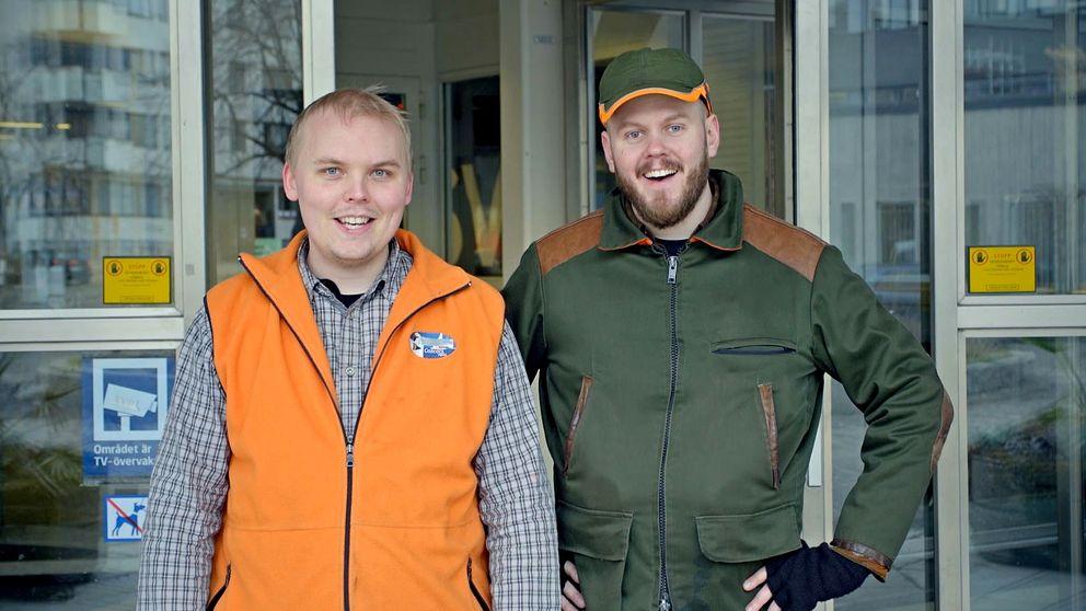 Bröderna Billy och Leif Öhman i humorserien Nordic Hillbillies.