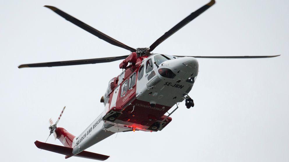 Sjöfartsverkets helikopter.