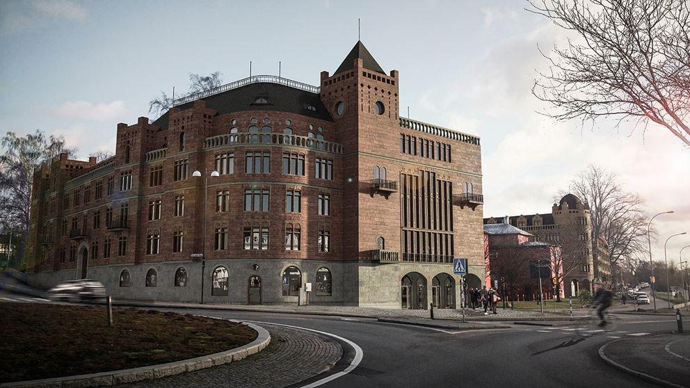 Affärsmannen Björn Sundeby vill bygga ett sekelskifteshus i Växjö som är inspirerat av Strandvägen i Stockholm. Men planerna kritiseras hårt av arkitektkåren.