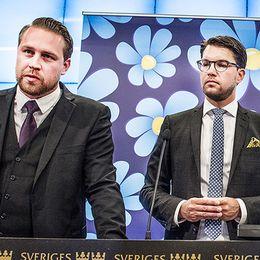 Anna Kinberg Batra och Mattias Karlsson och Jimmie Åkesson