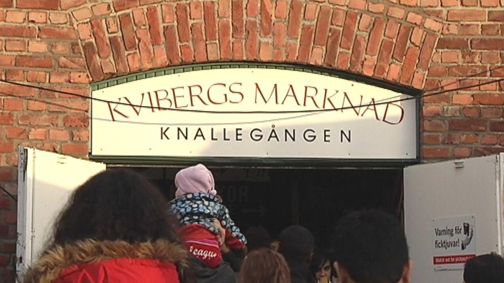 Ingången till Kvibergs marknad