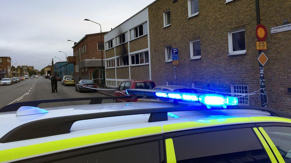 Brandattentatet i Malmö i höst.