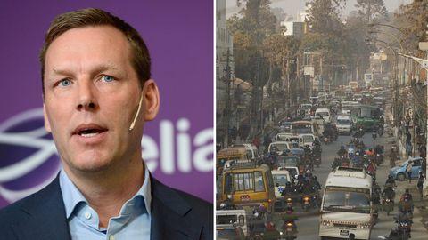Telias vd Johan Dennelind säger att företaget har lämnat Nepal bakom sig.