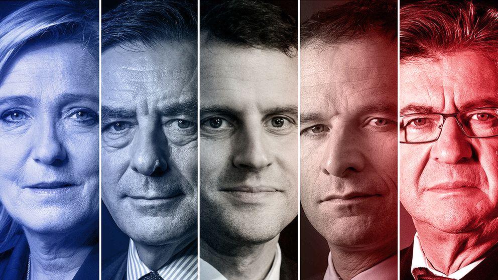 De franska presidentkandidaterna.