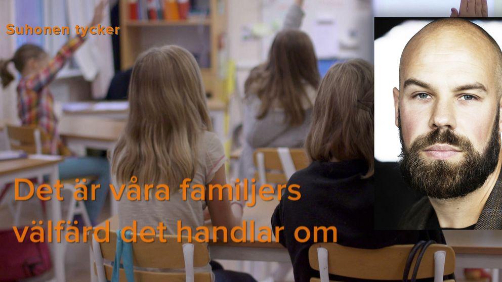 Daniel Suhonen om vinster i välfärden.