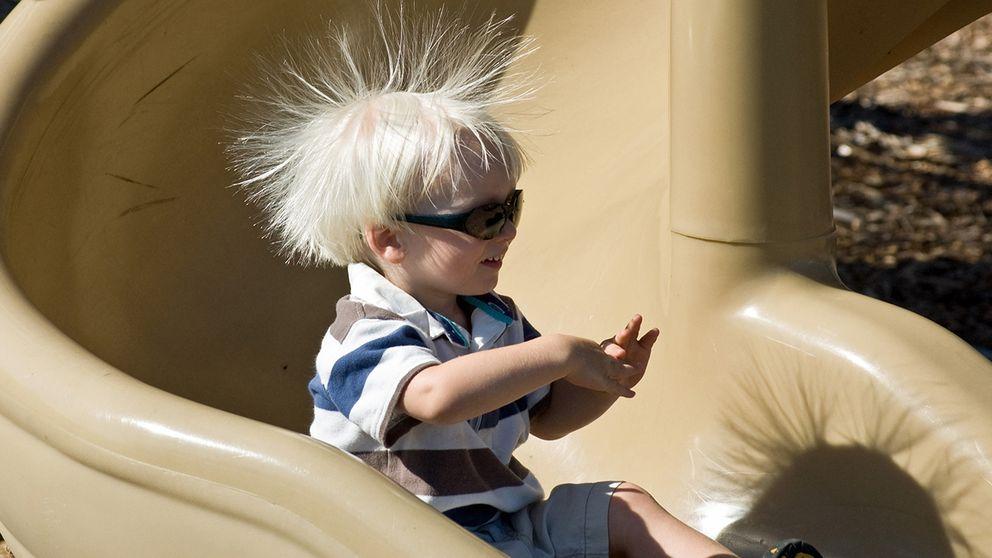 Statisk elektricitet i hår