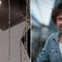 SVT:s konstkritiker Dennis Dahlqvist gillar Frida Fjellmans kristallkronor.