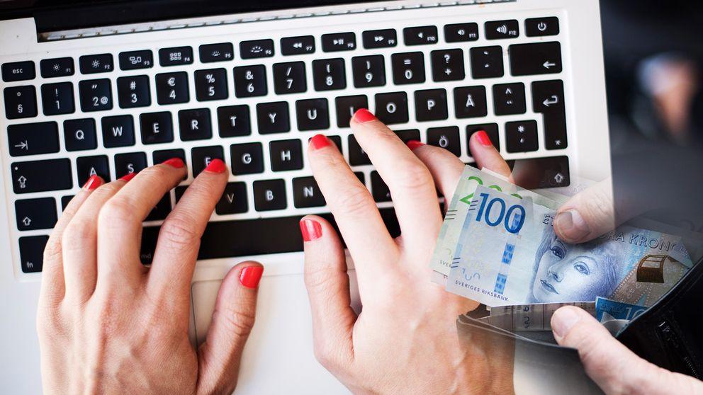 dator pengar tangentbord sedlar